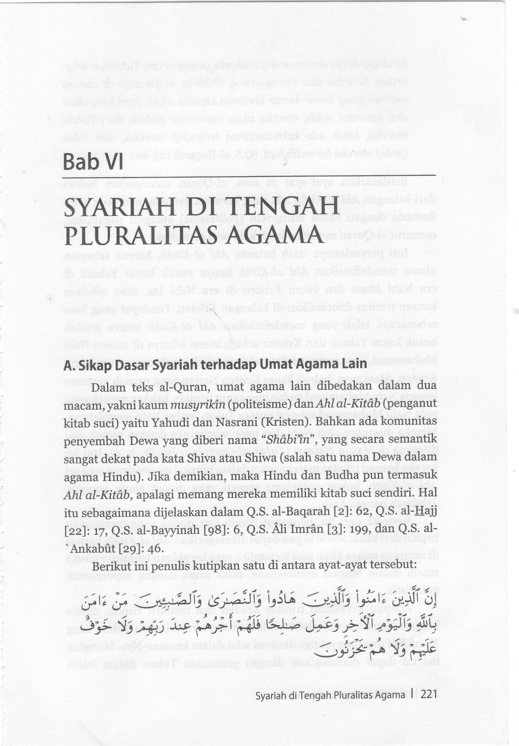 AJARAN ISLAM TENTANG AHLU KITAB DAN MUSYRIKIN