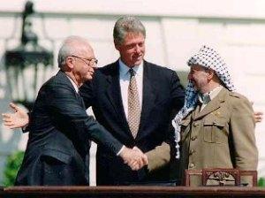 Berdasarkan Peta Jalan Damai sesuai dengan Resoluasi PBB 1947, Yasser Arafat dan Yitzhak Rabin menyetujui berdirinya dua negara,damai berdampingan, yakni Israel dan Palestina