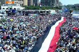 Ratusan ribu raakyat Mesir turun berdemo, Messir di ambang Perang Saudara