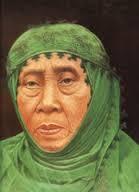 Nyai Ahmad Dahlan, isteri Pendiri Muhammadiyah, juga berkerudung tanpa cadar